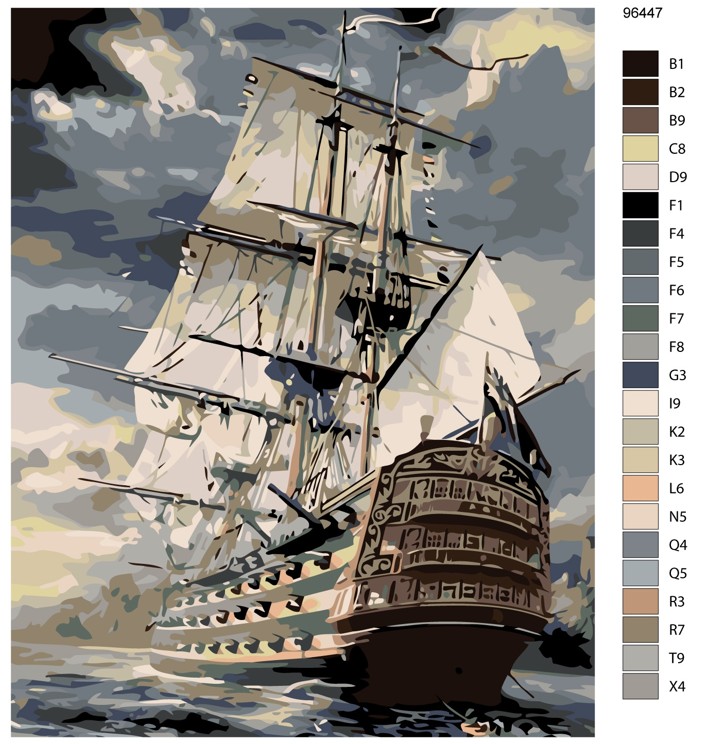 Картина по номерам, 80 x 100 см, KTMK-96447 поселягин владимир геннадьевич слово чести