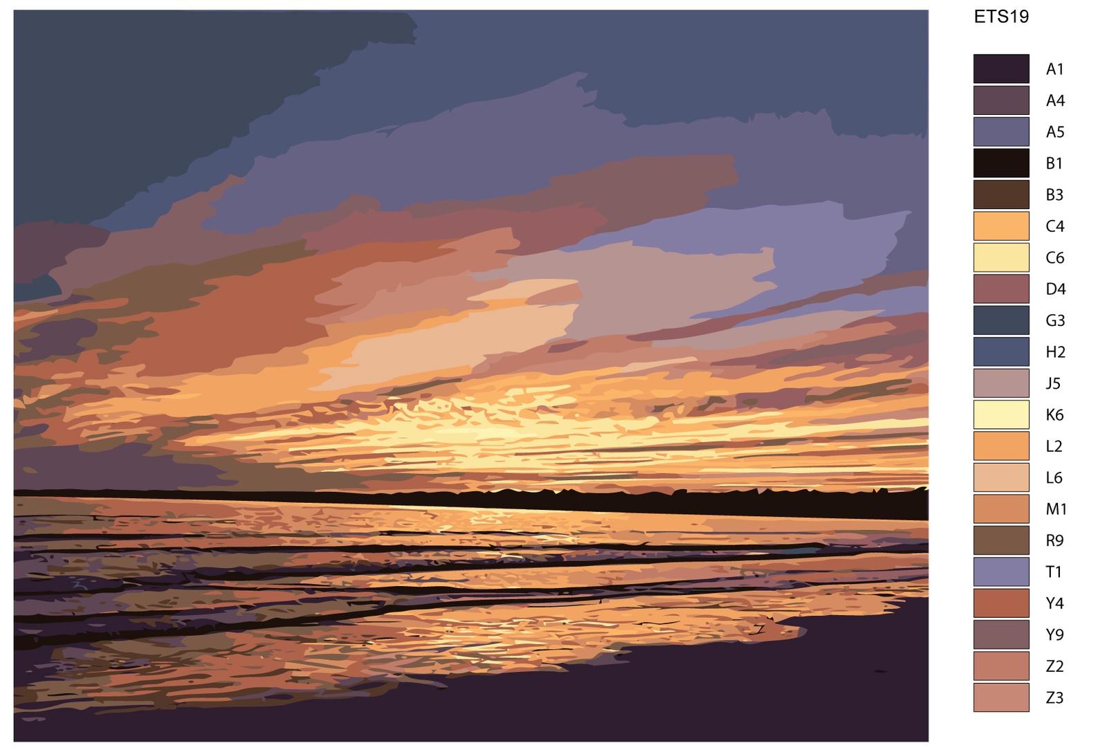 Картина по номерам, 80 x 100 см, ETS19