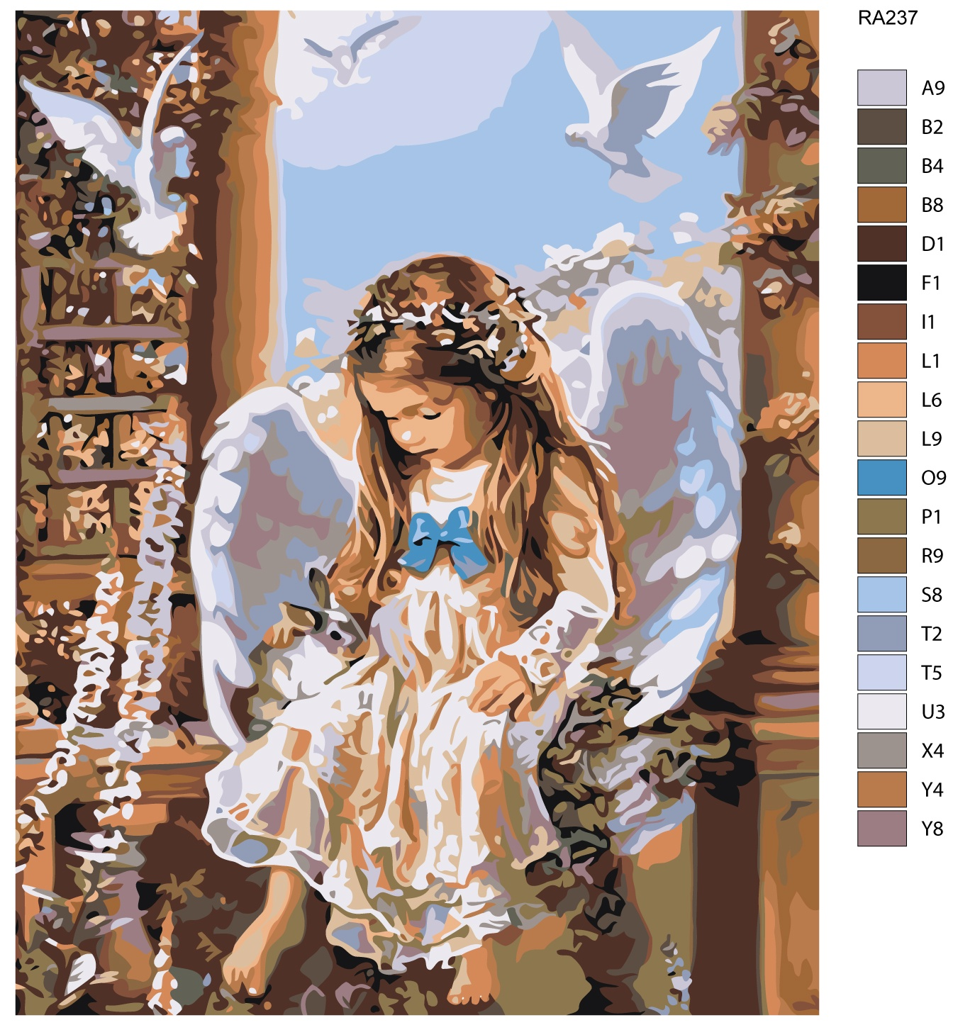 Картина по номерам, 80 x 100 см, RA237