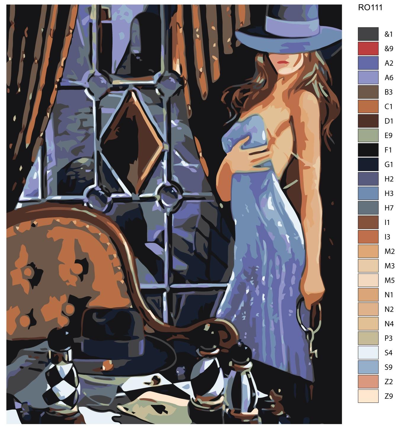Картина по номерам, 80 x 100 см, RO111