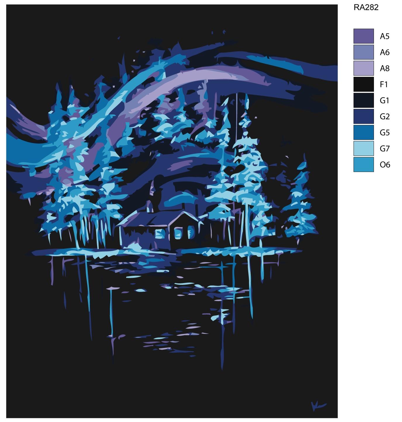 Картина по номерам, 80 x 100 см, RA282