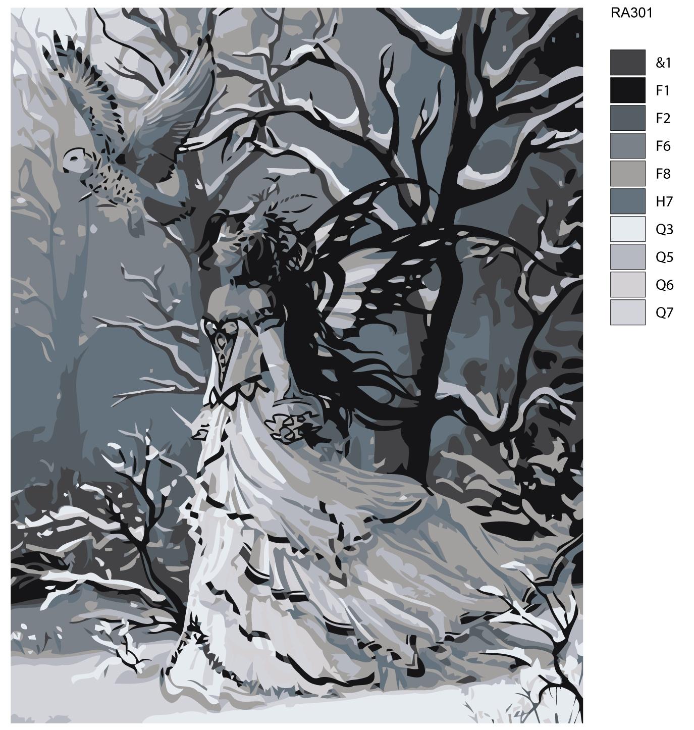Картина по номерам, 80 x 100 см, RA301