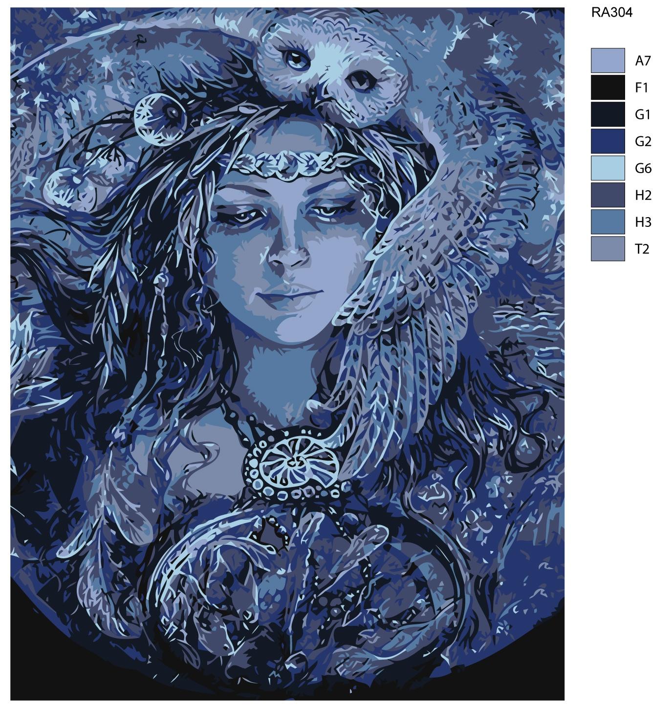 Картина по номерам, 80 x 100 см, RA304