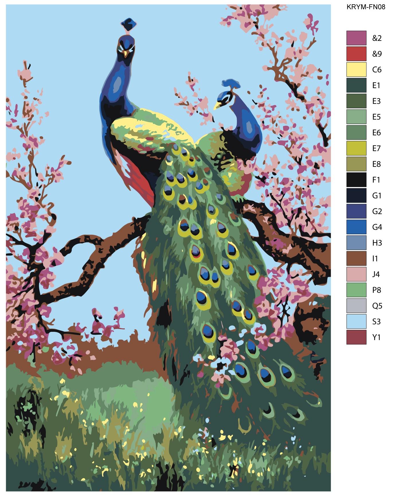 Картина по номерам, 80 x 120 см, KRYM-FN08 тени для век zao essence of nature zao essence of nature za005lwkjk51