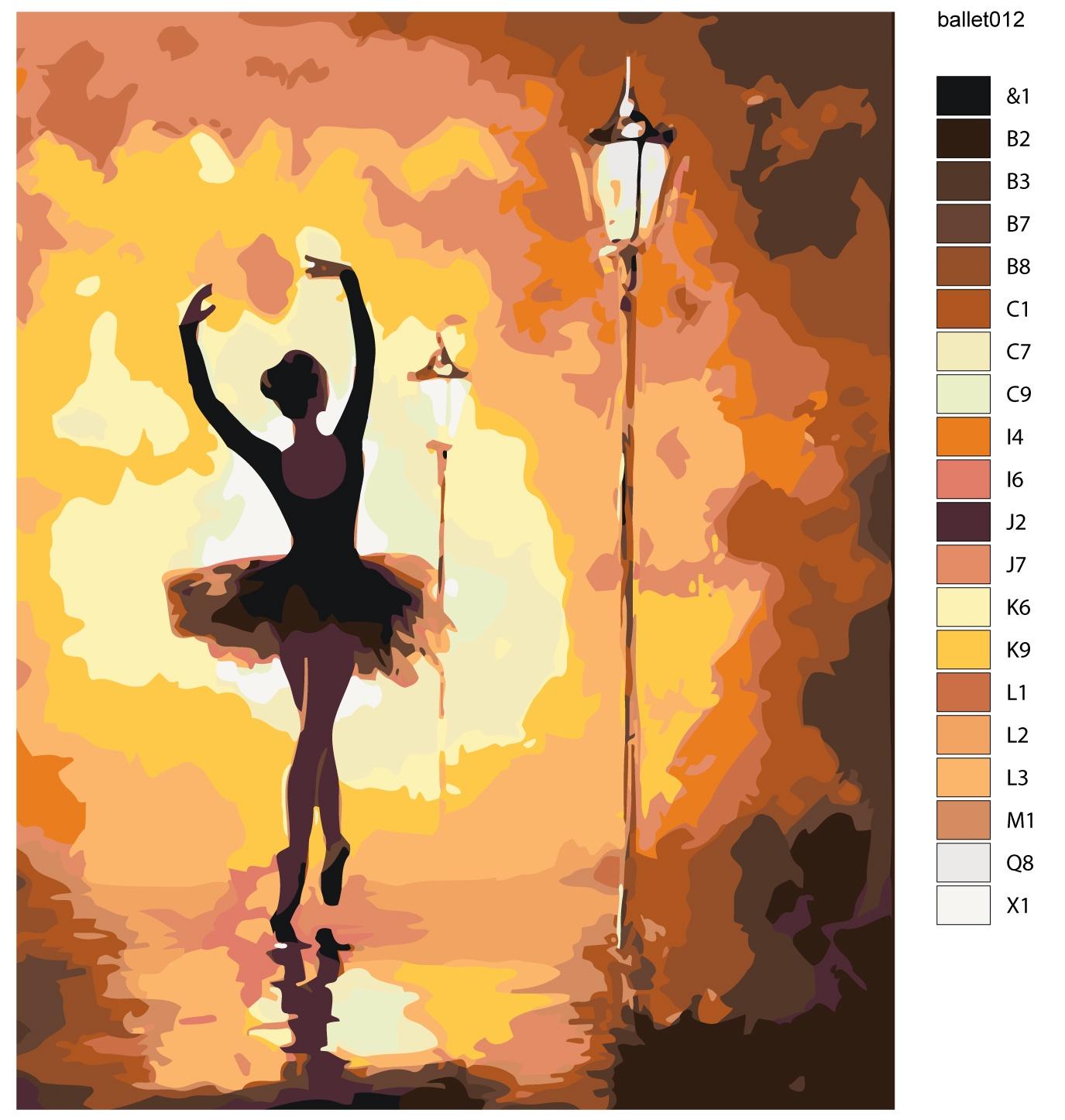 Картина по номерам, 80 x 100 см, KTMK-ballet012