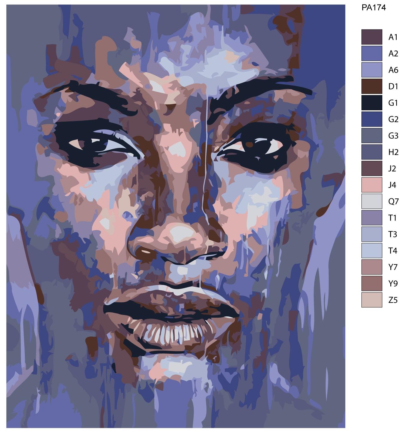 Картина по номерам, 80 x 100 см, PA174