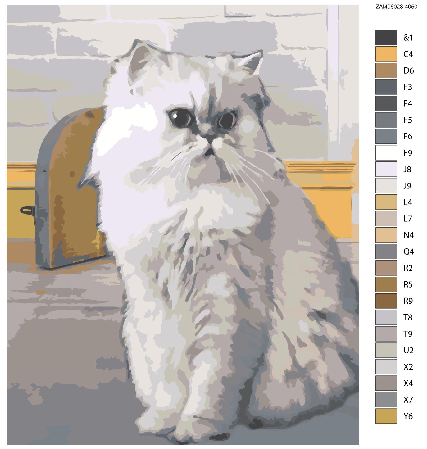 Картина по номерам, 80 x 100 см, ZAI496028-4050