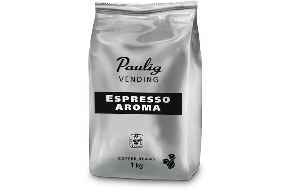 Paulig Vending Espresso Aroma, кофе в зернах 1 кг pausa aroma bar кофе в зернах 1 кг