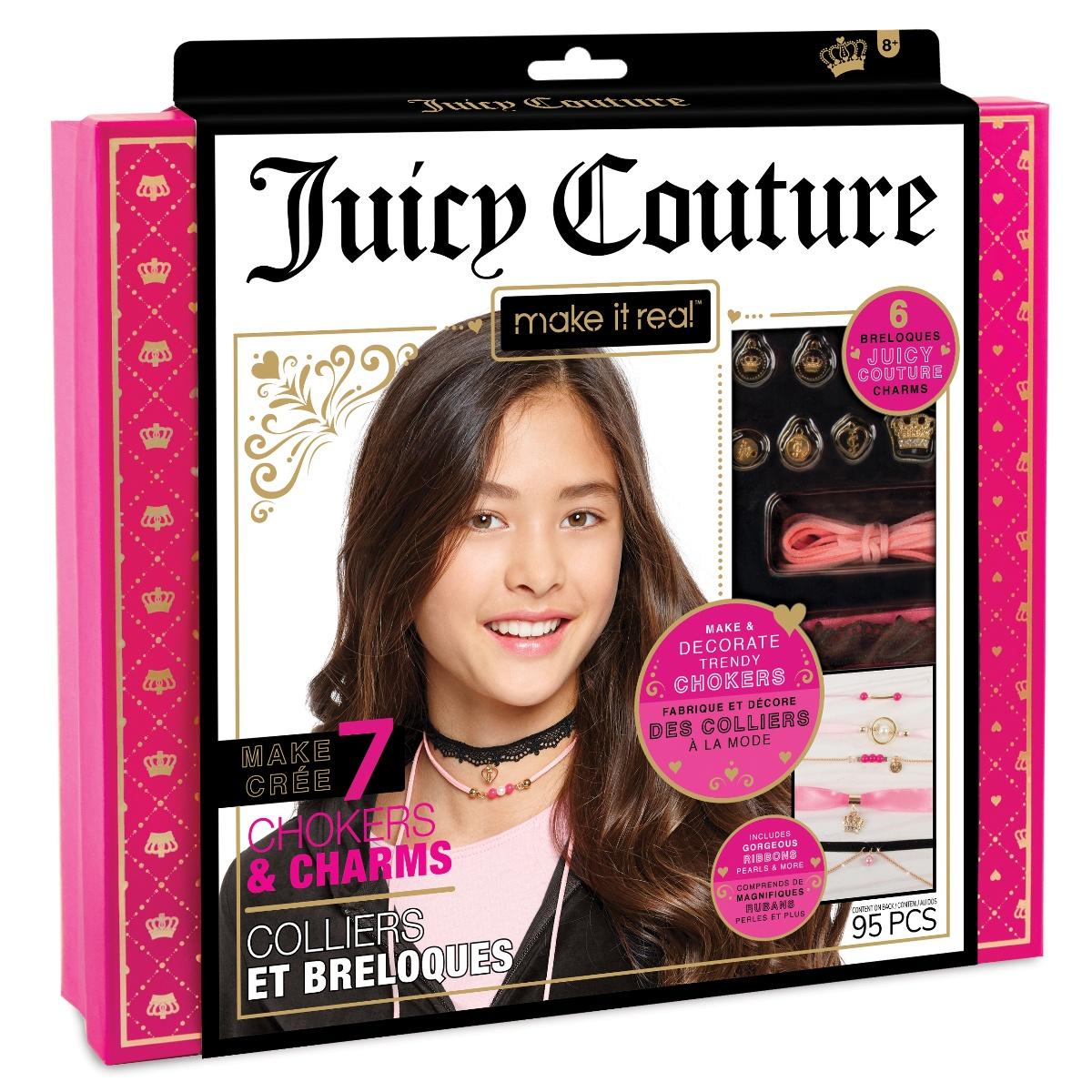 Набор для создания бижутерии Чокеры и шармы Juicy Couture украшения чокеры