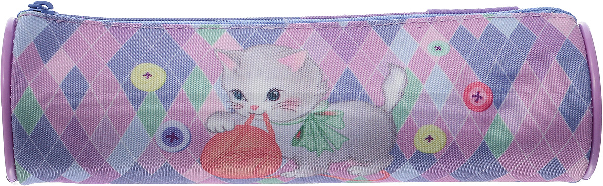 Пенал-тубус Tiger Family Playfull Kitten, розовый, фиолетовый ezh style пенал подставка kitten hypnotist