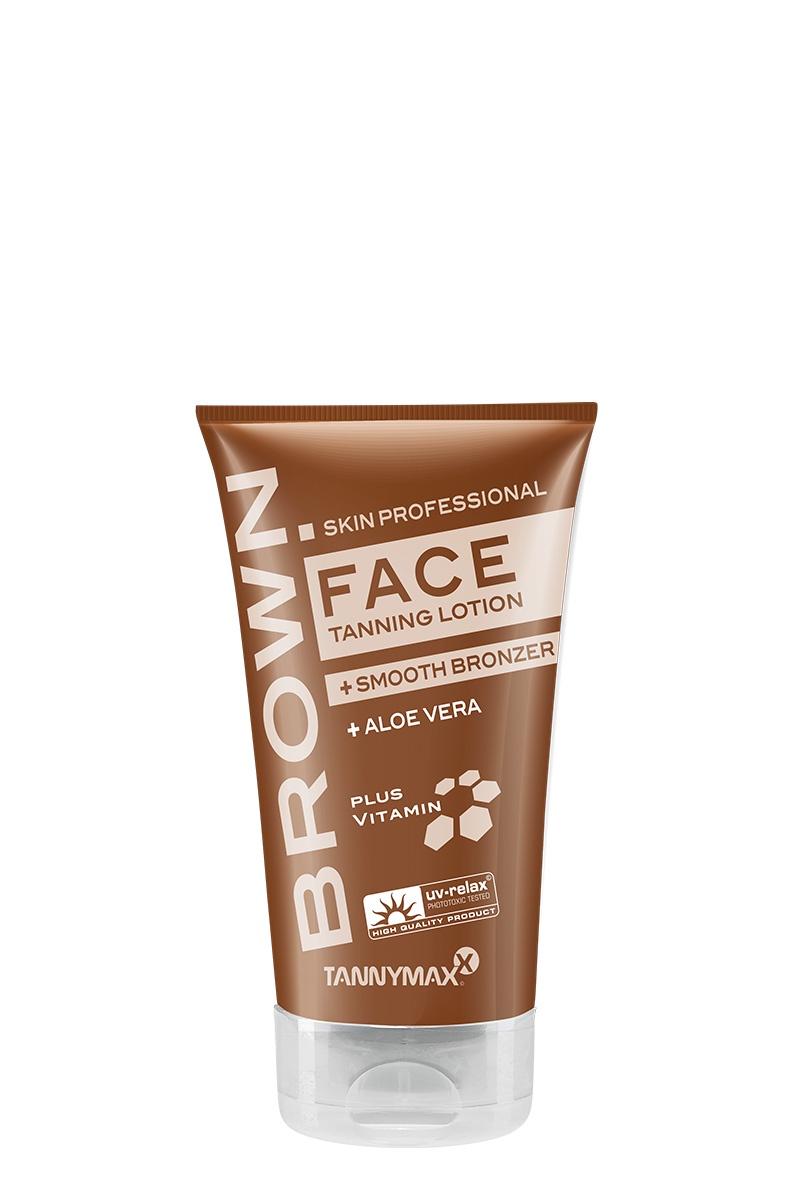 BROWN FACE + SMOOTH BRONZER - крем-ускоритель для загара лица, шеи и зоны декольте с мягким бронзатором и Anti-age эффектом