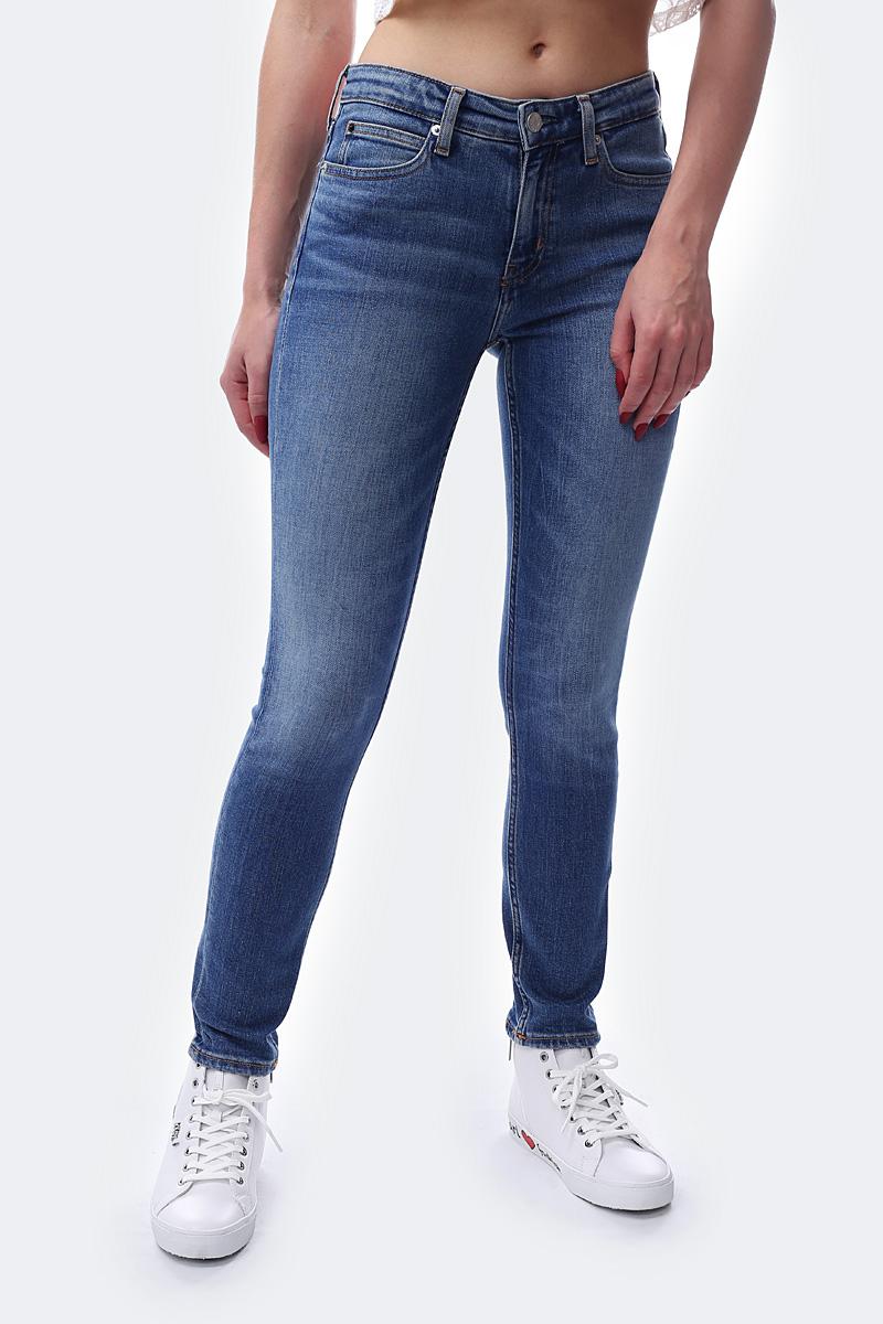 Джинсы Calvin Klein Jeans low rise bleach wash skinny jeans