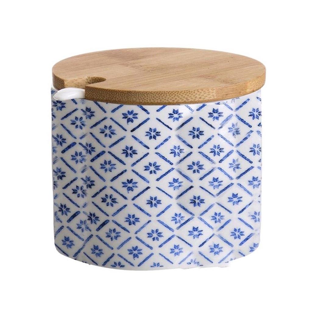 D'Casa Сахарница с ложкой Bamboo, синий, 200 гр
