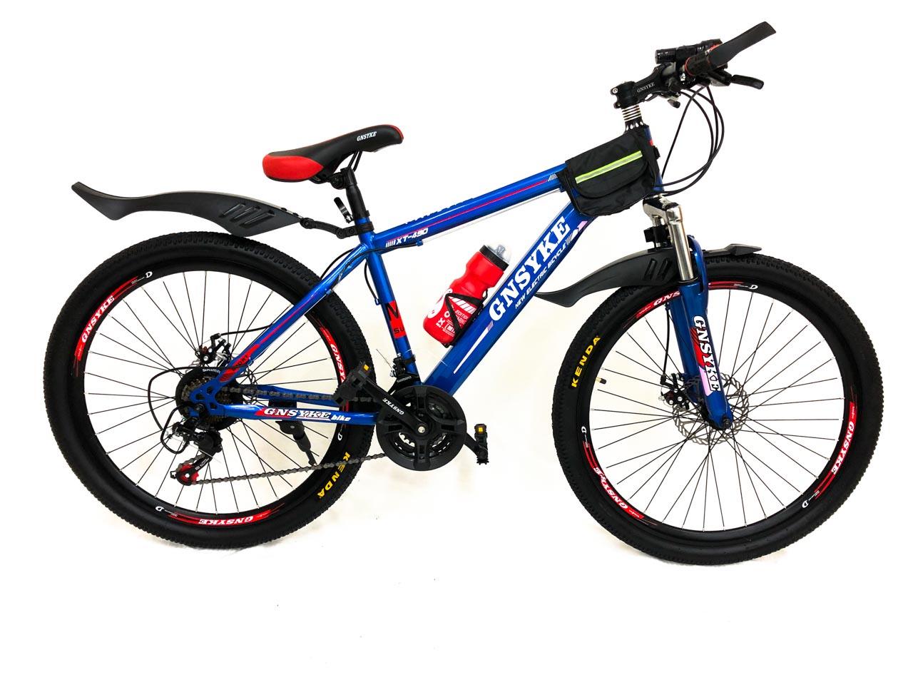 Велосипед горный 21 скорость 26 колеса GNSYKE (Синий)