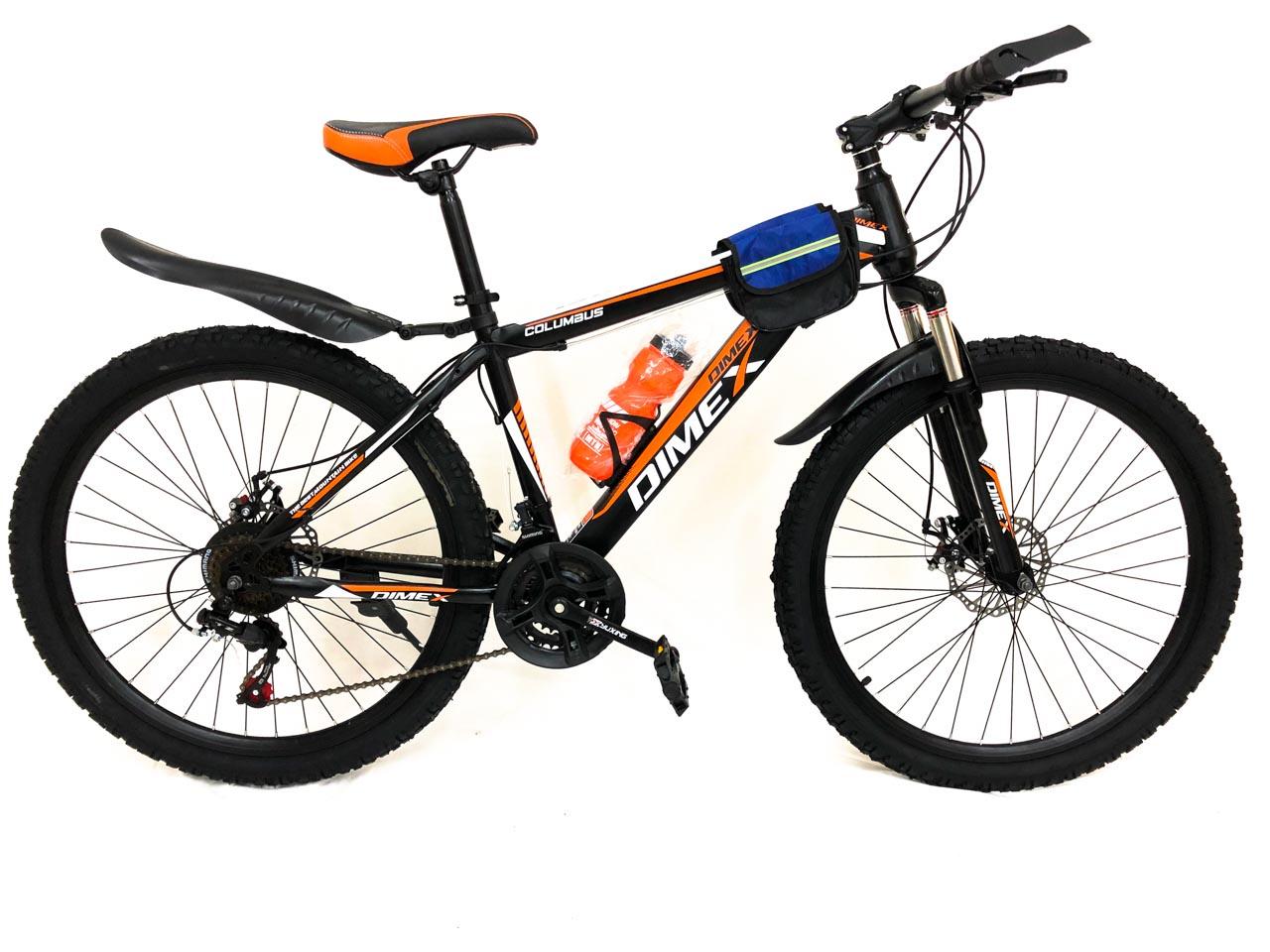Велосипед горный 21 скорость 26 колеса DIMEX (Черно-оранжевый)