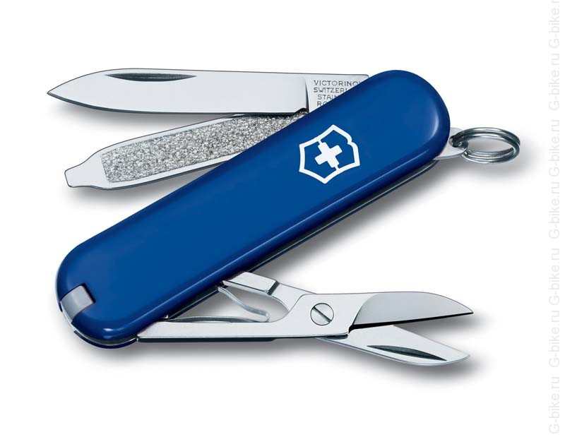 Нож-брелок Victorinox Classic SD, 58 мм, 7 функций, синий