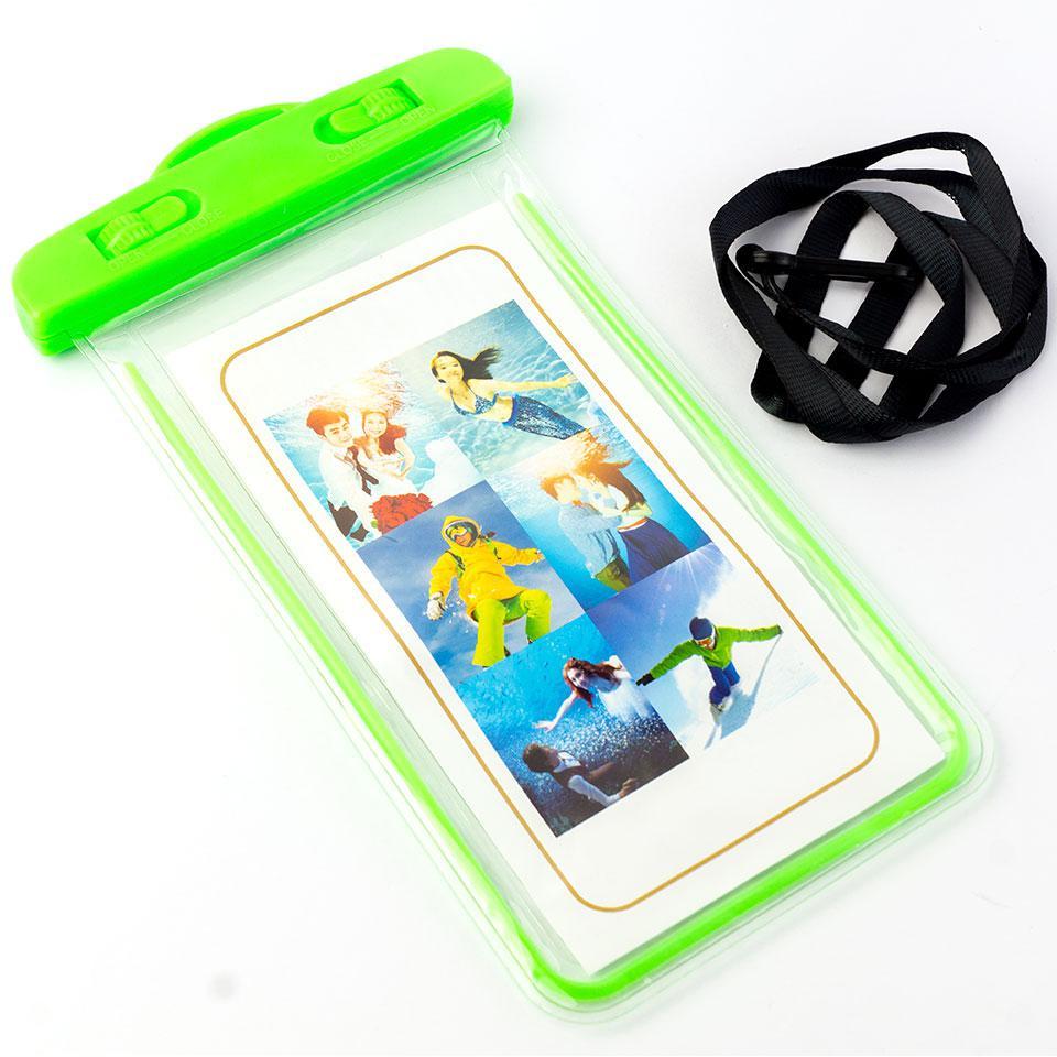 лучшая цена Водонепроницаемый чехол-пакет для телефона, Радуга, зеленый