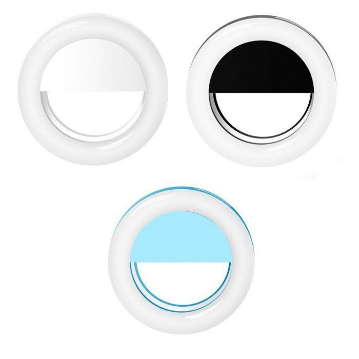 Селфи-лампа Selfie Ring Light (от батареек, белый)
