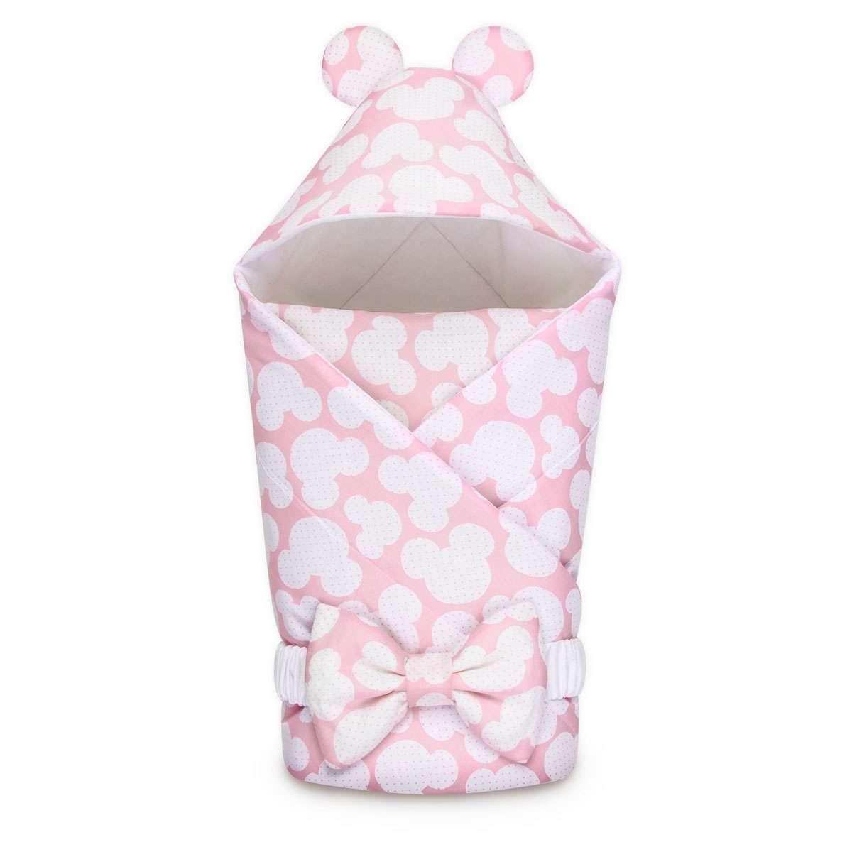 Зимний конверт-одеяло Асбро Микки розовый