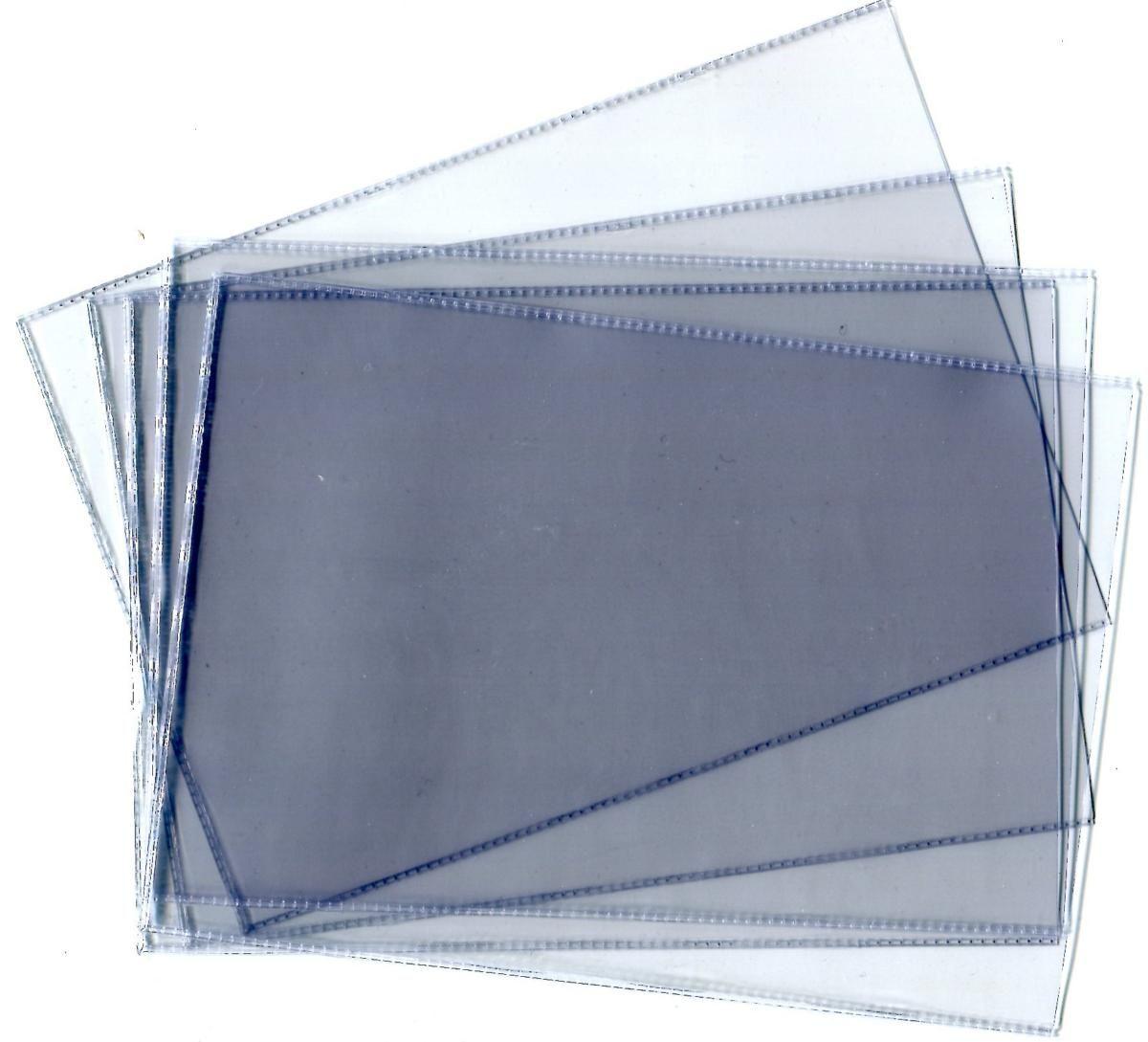 Комплект прозрачных пластиковых холдеров для конвертов, открыток, фото, банкнот, карточек, ценных бумаг. Формат 245 x 170 мм. Упаковка 50 штук. Производство Россия. Нет бренда