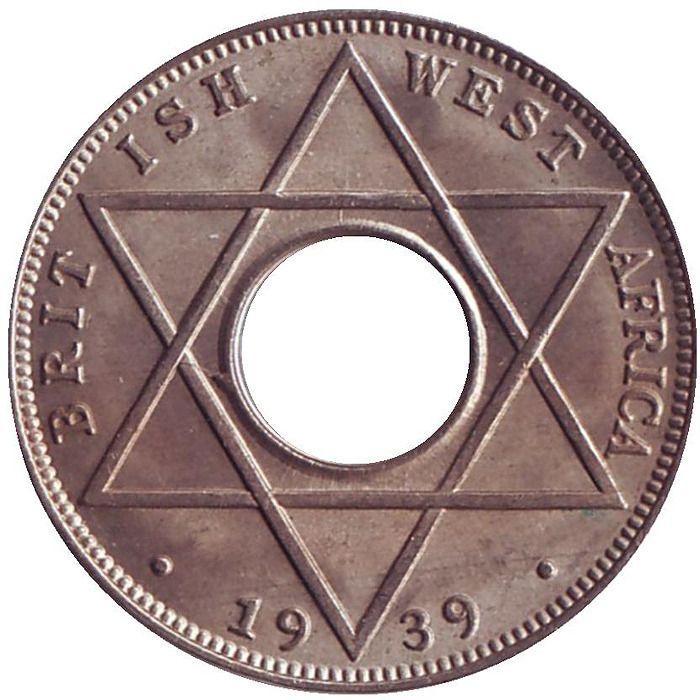 Монета номиналом 1/10 пенни. Британская Западная Африка, 1939 цена и фото