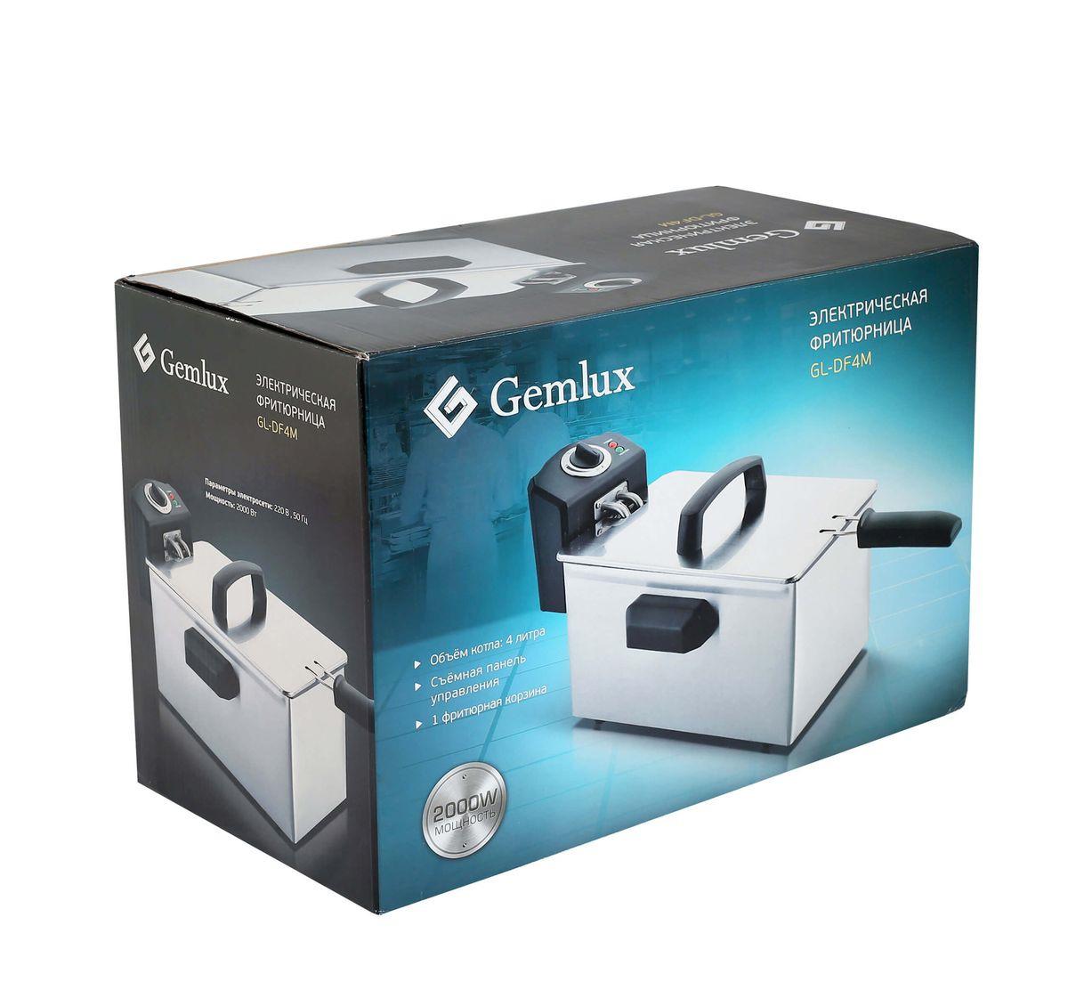 Фритюрница Gemlux GL-DF4M1, серебристый, черный Gemlux
