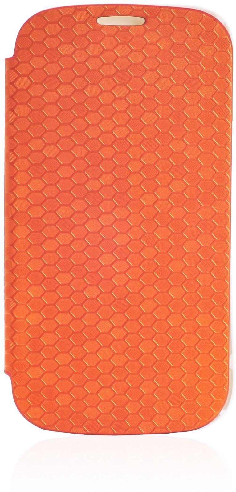 Чехол Gurdini Flip Case соты 380030 для Samsung Galaxy S3,380030, оранжевый
