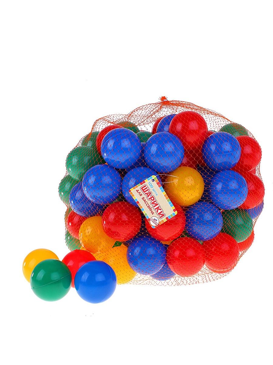 Шарики для сухих бассейнов Green Plast ШБ00100 100 штук разноцветные шарики для сухого бассейна pilsan шарики для сухого бассейна 100 штук 9 см пакете сумке