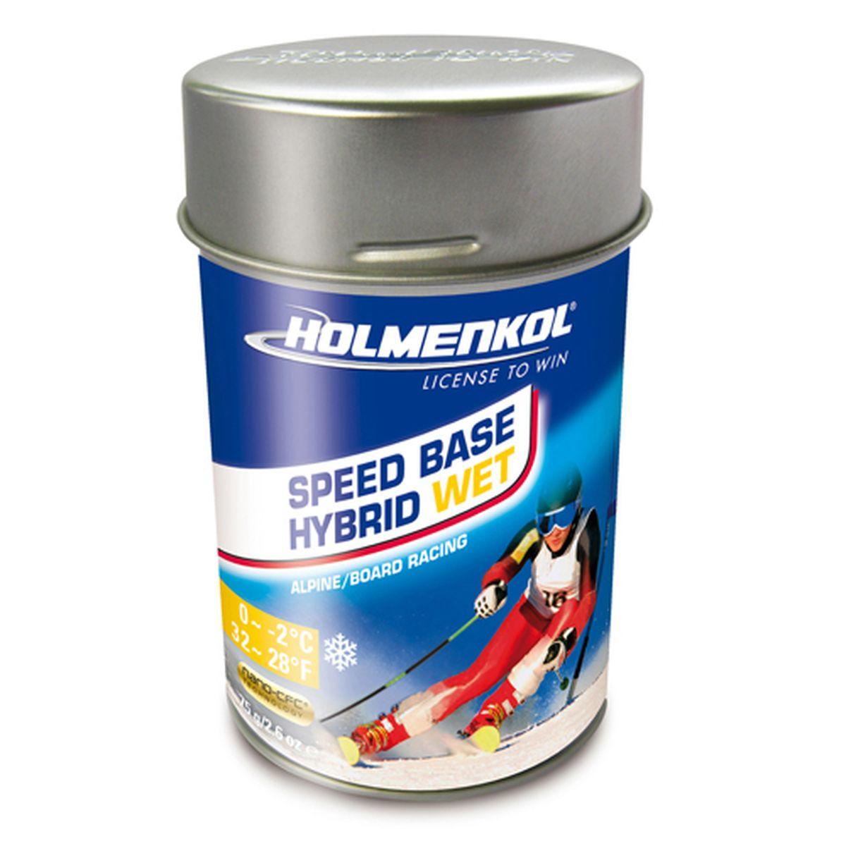Фторовый порошок на холод Holmenkol SpeedBase Hybrid Wet для горных лыж и сноуборда, 24545, 75 г
