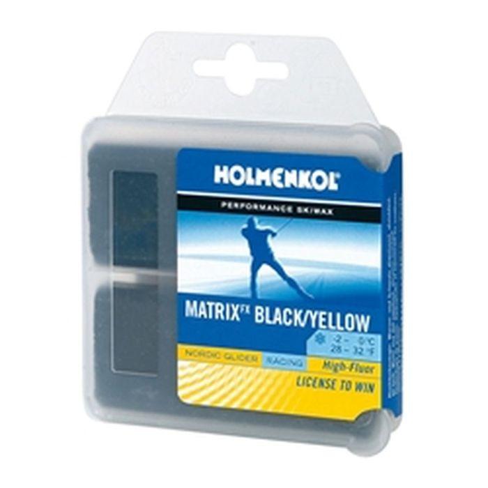 Высокофторовый парафин Holmenkol Matrix BK/YEL с молибденом для беговых лыж, 24290, 70 г
