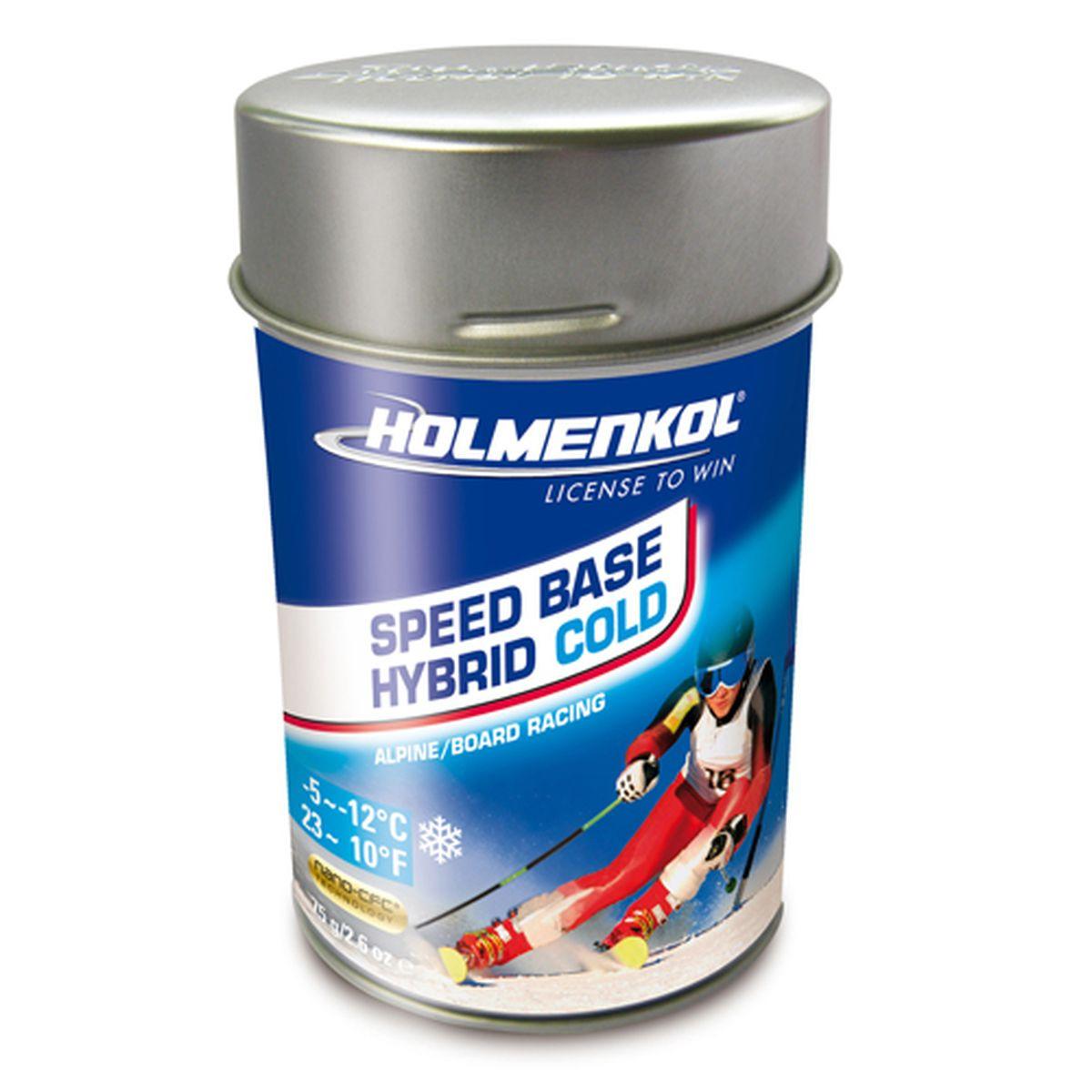 Фторовый порошок на холод Holmenkol SpeedBase Hybrid Cold для горных лыж и сноуборда, 24555, 75 г