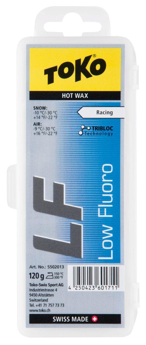 Низкофторовый парафин Toko Tribloc LF, 5502013, синий, 120 г мази и парафины ip evtyukhov парафин lf5 10 30