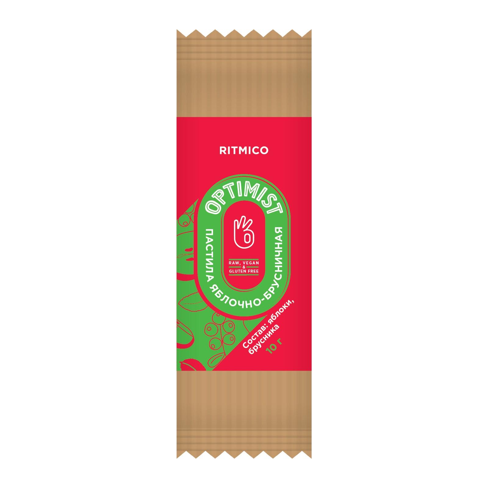 Пастила яблочно-брусничная Optimist, 10 г