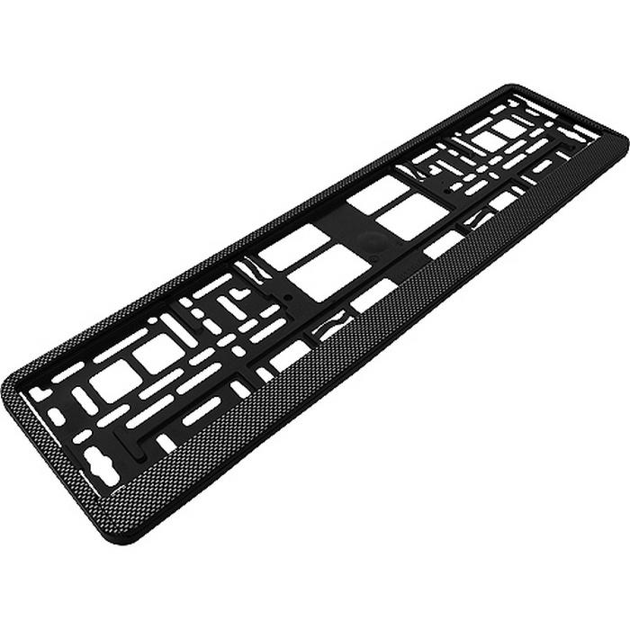 Рамка под номерной знак, нижняя защелка, цвет: карбон темный, AutoStandart 102606 стоимость