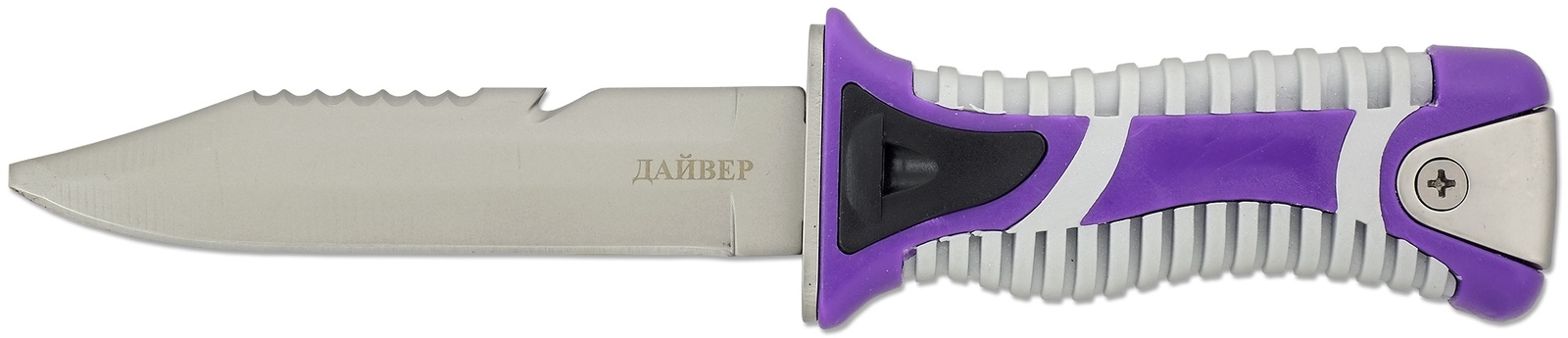 Нож туристический с пластиковыми ножнами Ножемир Дайвер H-118S