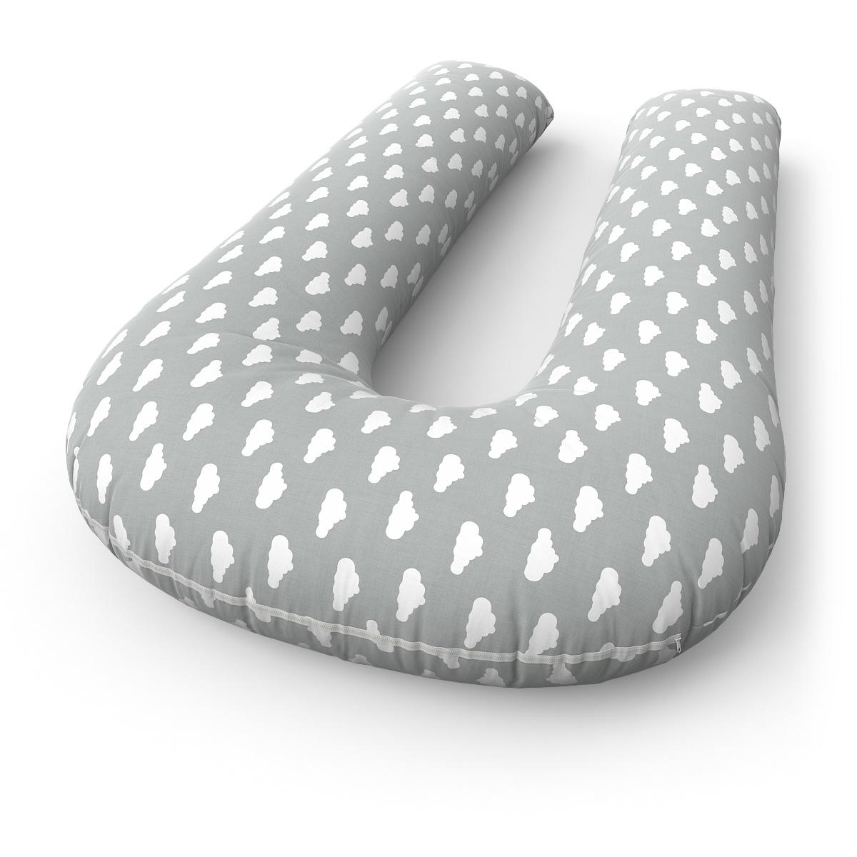 Наволочка Петербургский Уют на подушку для беременных и кормящих формы U Cloud Grey