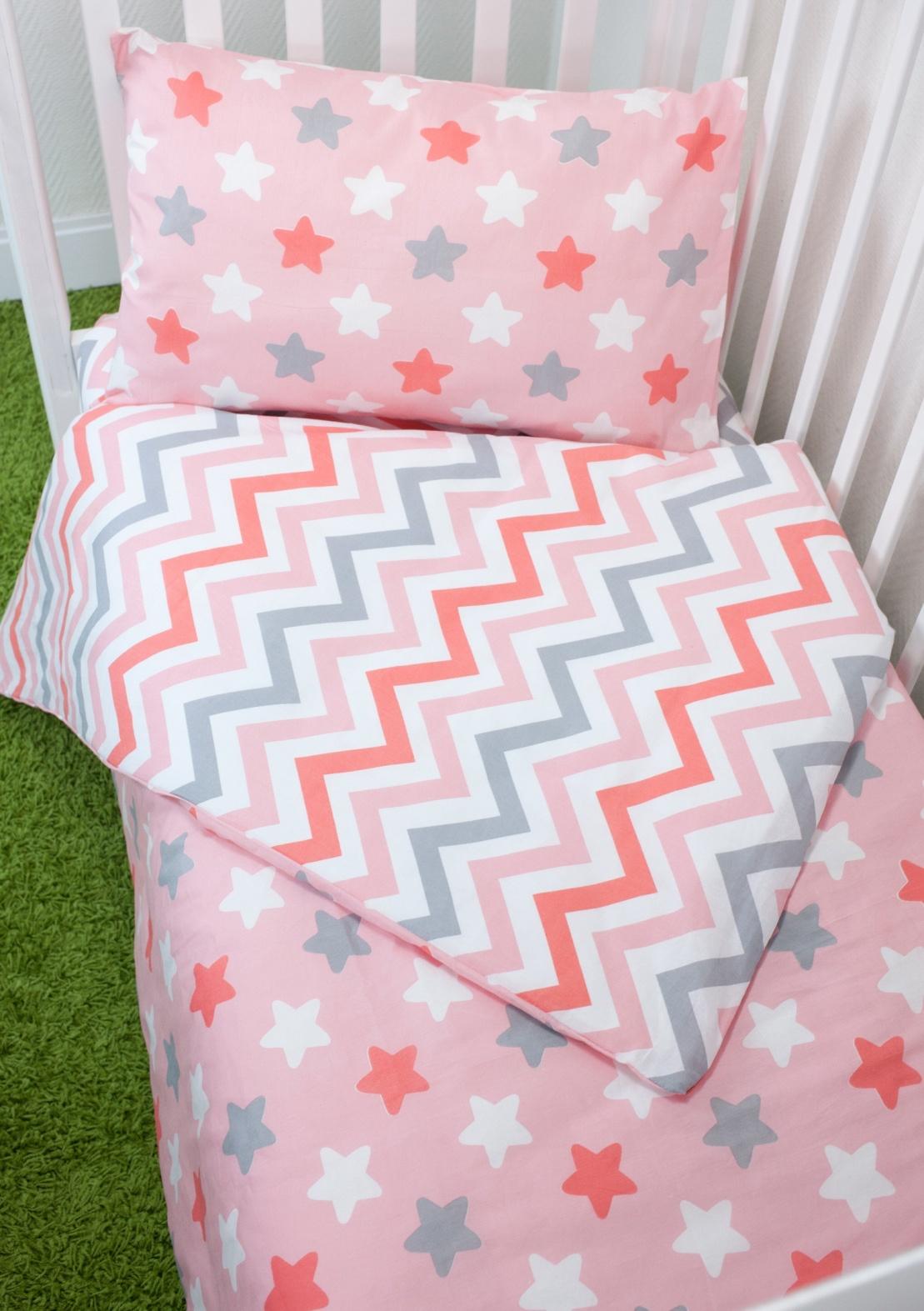 Комплект постельного белья для малышей Magic City Розовое созвездие комплект постельного белья облачко дельфин в детскую кроватку с простынью на резинке 186903