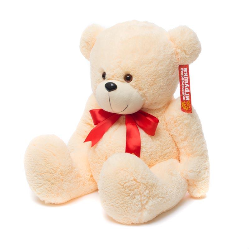 Мягкая игрушка Медведь пузатый с бантом Нижегородская Игрушка См-290-5б