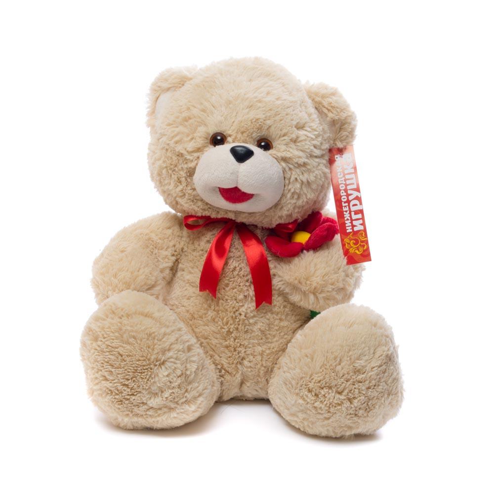 Мягкая игрушка Медведь с цветком Нижегородская Игрушка См-382-ц-5