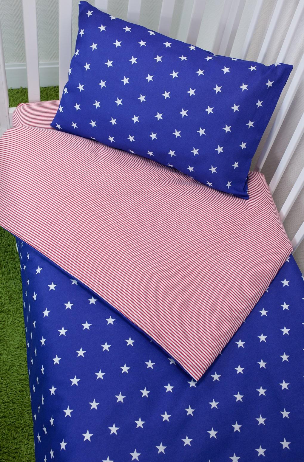 Комплект постельного белья для малышей Magic City Синее созвездие комплект постельного белья облачко дельфин в детскую кроватку с простынью на резинке 186903