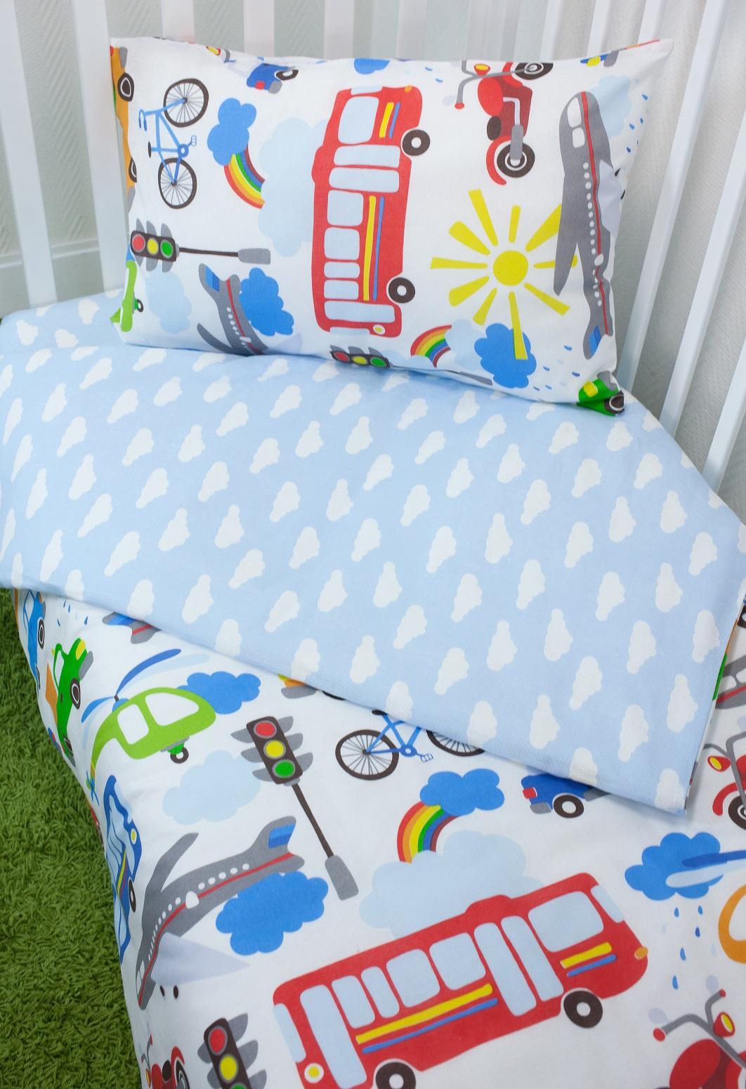 Комплект постельного белья для малышей Magic City Час пик комплект постельного белья облачко дельфин в детскую кроватку с простынью на резинке 186903