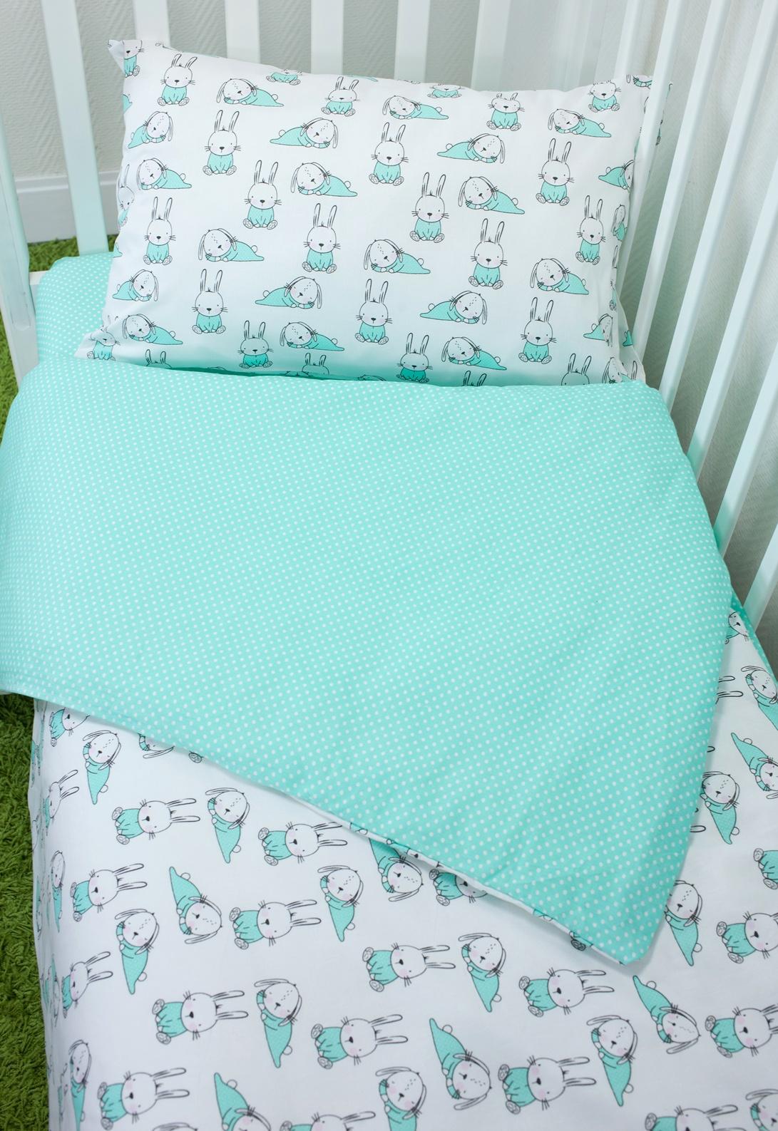 Комплект постельного белья для малышей Magic City Ушастый лежебока комплект постельного белья облачко дельфин в детскую кроватку с простынью на резинке 186903