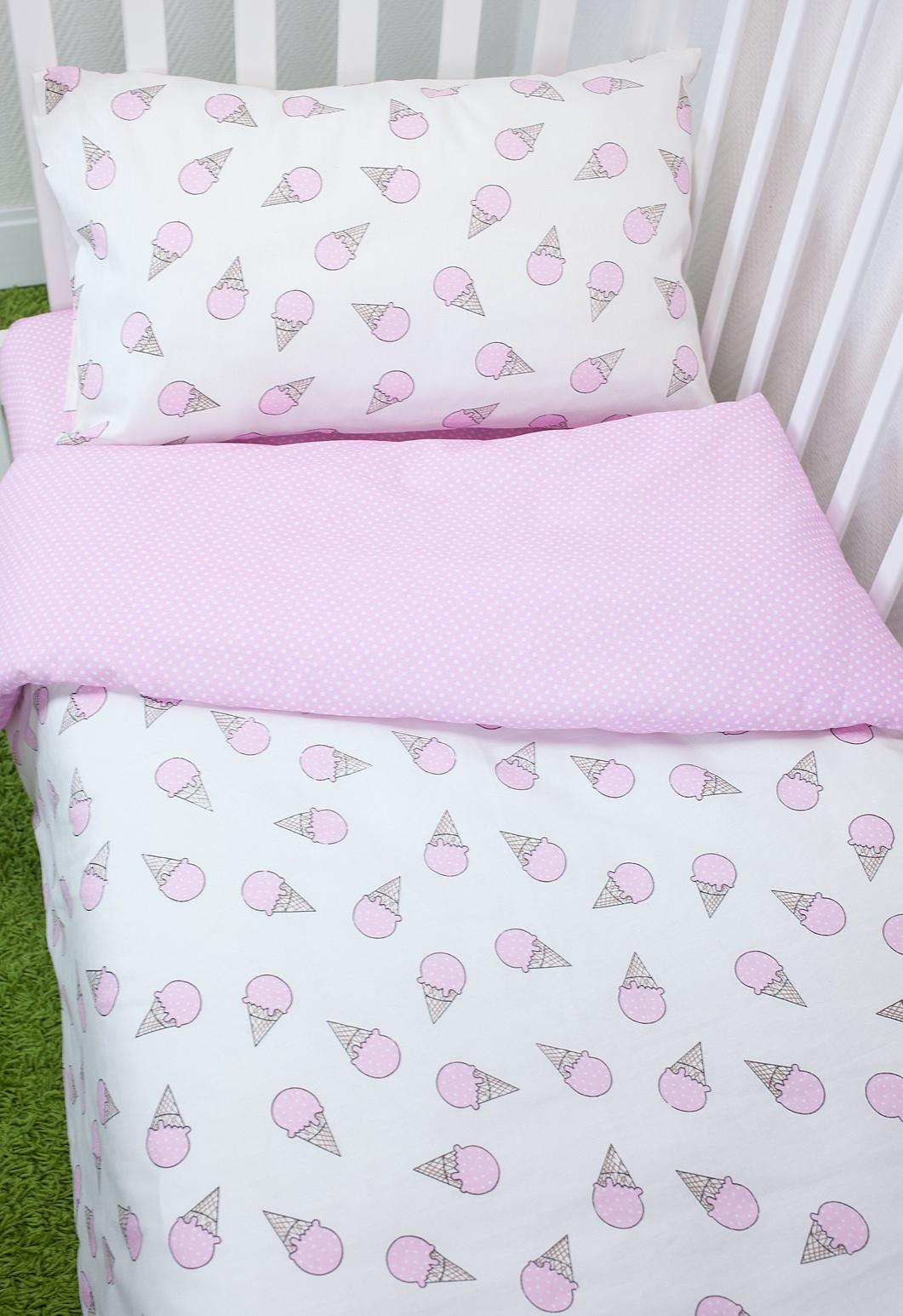 Комплект постельного белья для малышей Magic City Розовый десерт комплект постельного белья облачко дельфин в детскую кроватку с простынью на резинке 186903