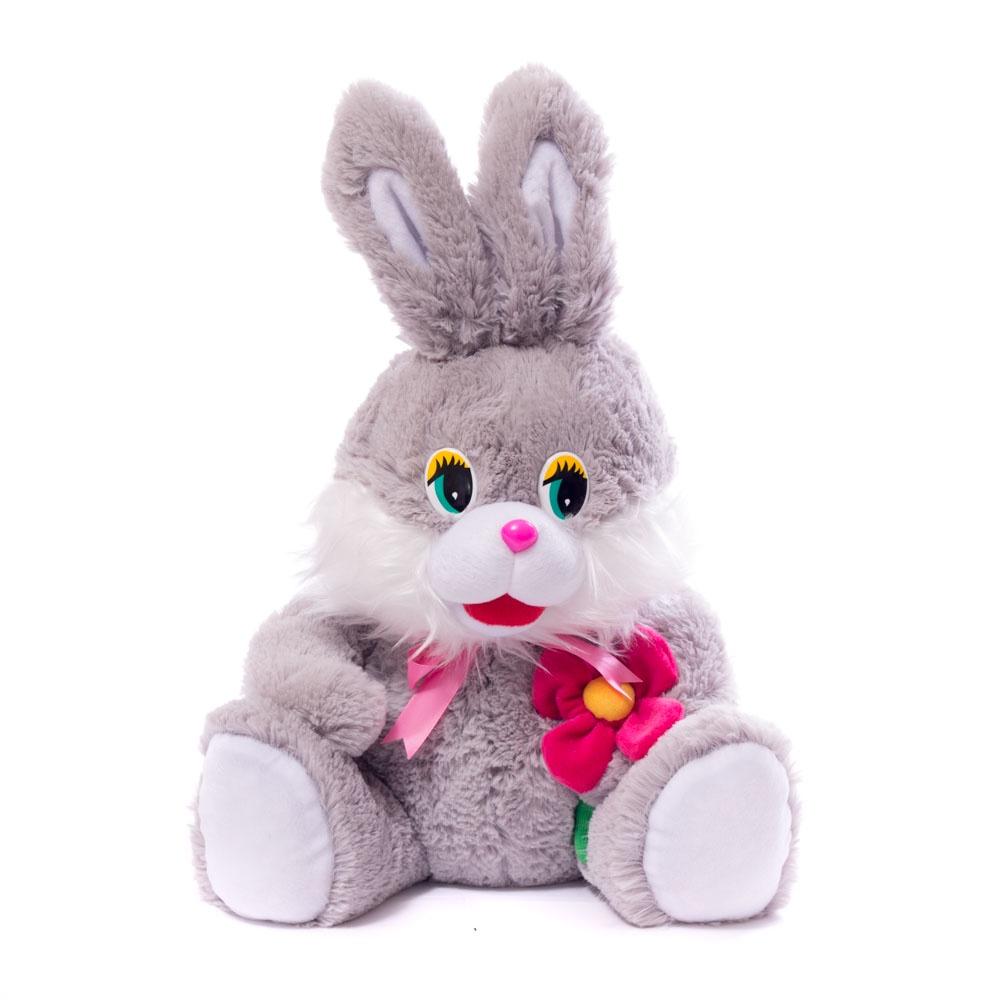Мягкая игрушка Заяц с цветком Нижегородская Игрушка См-369-ц-5