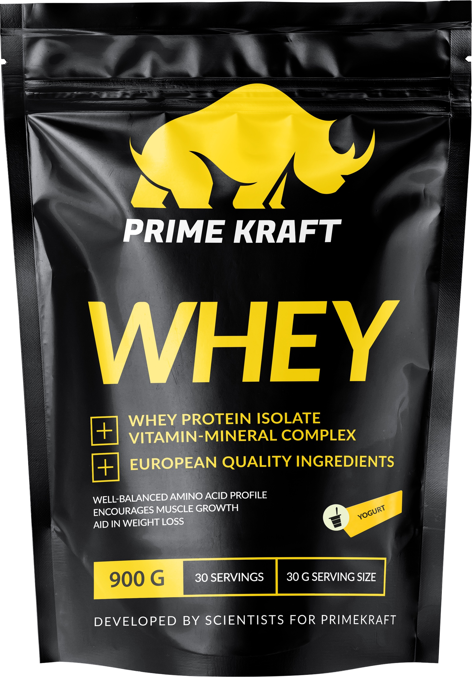 Специализированный пищевой продукт Prime Kraft Whey, йогурт, 900г
