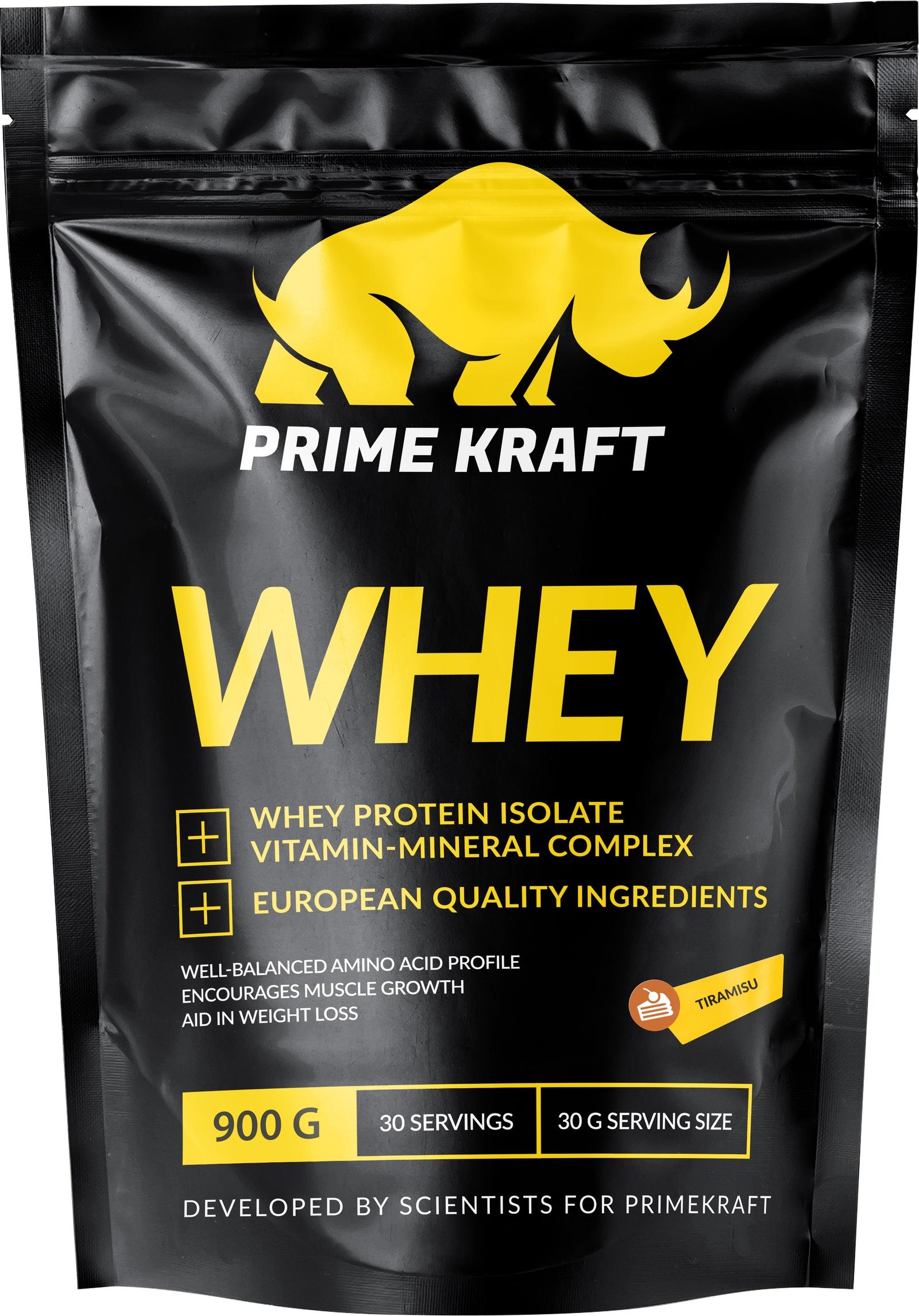Специализированный пищевой продукт Prime Kraft Whey, тирамису, 900г