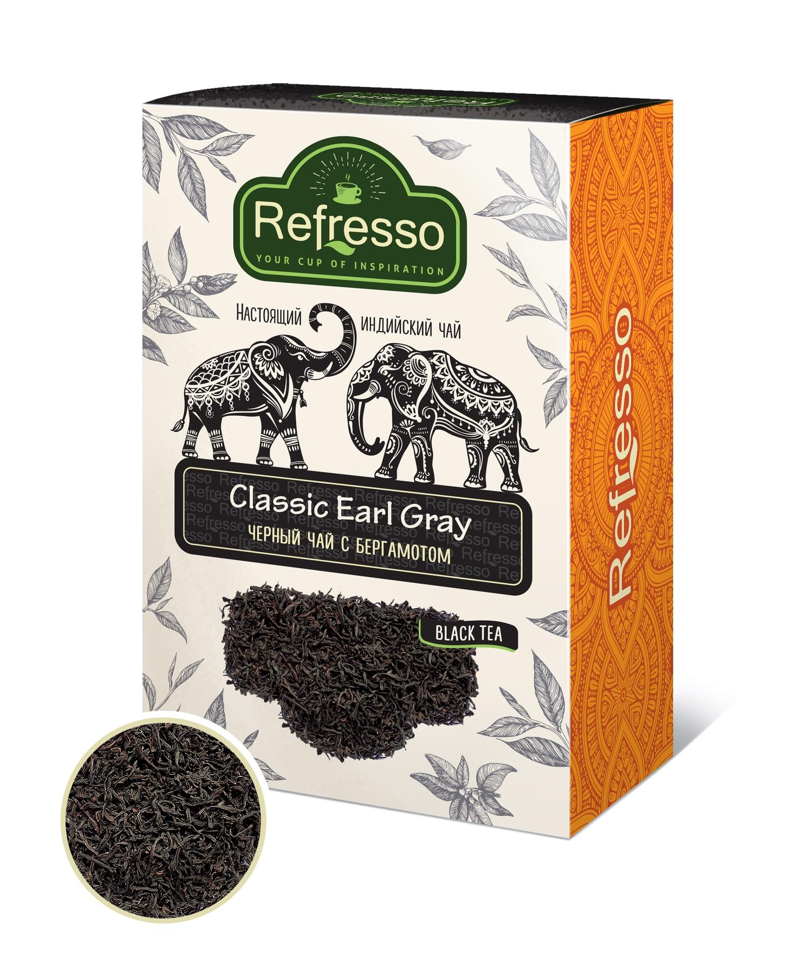 Чай Refresso черный Эрл Грей 100г стоимость