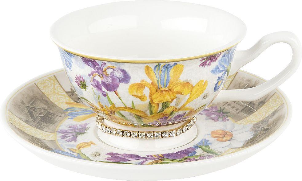 Чайная пара Nouvelle Ирис Кристалл, 0661138-1, разноцветный, 180 мл чайная пара nouvelle ирис кристалл 180 мл