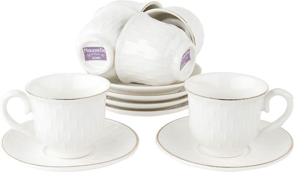 Набор кофейный Nouvelle Стиль, 2930072, белый, 12 предметов чайный набор 2пр olympia v 220мл золотая обводка фарфор подарочная упаковка