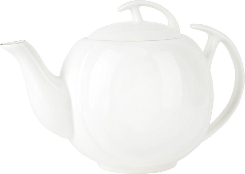 Чайник заварочный Nouvelle Жемчужина, 2930085, белый, 1,2 л чайный набор 2пр olympia v 220мл золотая обводка фарфор подарочная упаковка